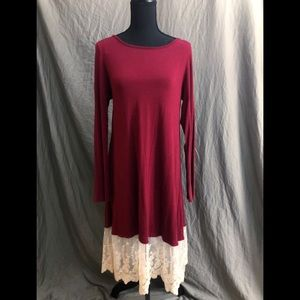 Maroon Maternity Dress